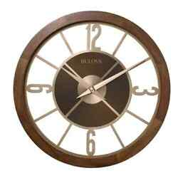 Bulova Indoor/outdoor 26 In. Gallery Clock With Bluetooth Stereo