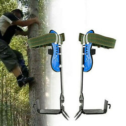Tree Climbing Spike Set Safety Adjustable Lanyard Rope Rescue Belt 2 Gears
