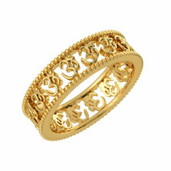 Natural Engagement Ring Solid 14k Yellow Gold Om Men's Band Size 9 11 12