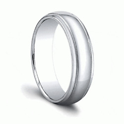 Real Plain Engagement Ring Solid 14k White Gold Mens Band Size 10 11 12