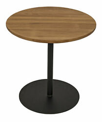 Noir Teak And Metal Side Table With Gold Teak Finish Gtab857sgt