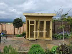 Summerhouse Pent Cabin Shed Garden Office Man Cave Bar Gym Delivery 8-14 Weeks