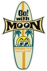 Mooneyes Surfboard Decal Sticker Moon Gm Hot Rod Rock Ford Chevy Rat Buick Olds