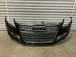 07-09 Audi Q7 Front Bumper Cover Assembly Blue W/ Grille Oem