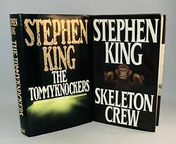 Stephen King-the Skeleton Crew-the Tommyknockers-2 Books-true First/1st Editions