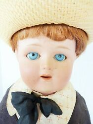Antique Huge 25 Bisque Head Nippon Boy Doll All Original Clothing And Shoes