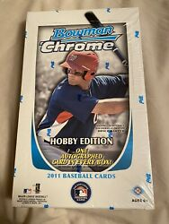 2011 Bowman Chrome Baseball Hobby Box Unopened Sealed - Mike Trout Rc Year