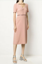 Square G Strap Midi Dress Dress- With Tags- Rrp3,300 Aud