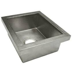 Native Trails Manhattan Bar And Prep Sink With Brushed Nickel Finish Cps532