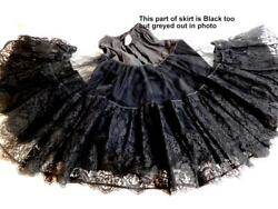French Vintage Souleiado Skirt...in Black Lace...extremely Rare