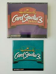 Hallmark Card Studio 3 Deluxe Pc Cd-rom 3 Disc Set Greeting Card Software