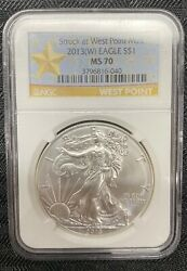 2013w Ngc Ms70 1st Releases Unc. 1oz .999 Fine Silver American Eagle 1 Coin