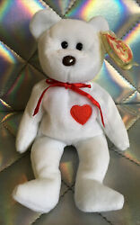 Ty Beanie Baby Valentino Bear Rare 1993/1994 Tag Errors Mint Brown Nose