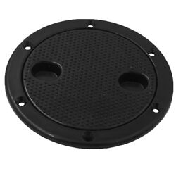 1pc Marine Boat Rv Black 6 Inch Access Hatch Cover Lid Screw Out Deck Plate