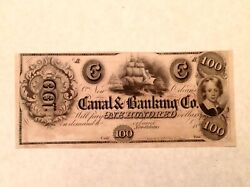 - 1840's 100 Canal And Banking Co. Of New Orleans Louisiana - Uncirculated Unc