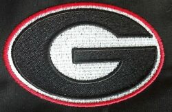 Georgia Bulldogs Logo embroidered Patch UGA G Multiple sizes options available
