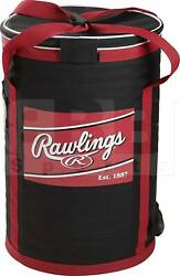 Rawlings Sot Sided Ball Bucket Bag Black Red 21.25quot; H x 13.5quot; W $69.99