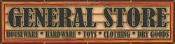 General Store Old Western Town Theme Business Letter Sign Remake Banner Xxl