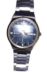 Citizen Crystron Solar Power Watch 8620a Analogue 1976 Vintage Watch ☆