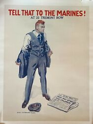Vintage Wwi Poster By Flagg Tell That To The Marines