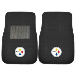 Pittsburgh Steelers 2 Piece Embroidered Car Auto Floor Mats
