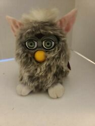 Vintage 1998🌺furby🌺working And Talking 70-800 Gray Pink And White Tiger Electronic