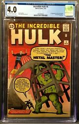 The Incredible Hulk 6 Cgc 4.0 Ow/w Pages 1st App Teen Brigade And Metal Master