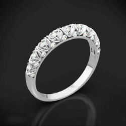 14k White Gold 0.30 Ct Round Cut Diamond Engagement Band For Women Size 5 7 8 9