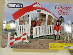 New Breyer Classics Barn 720650 3 Stall Horse Toy Barn Red Roof
