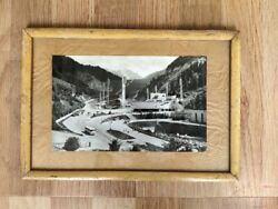 Vintage Beautiful View Medeo In Alma Ata City B/w Photograph Framed Wall Decor