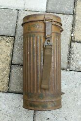 Ww2 German Wehrmacht Gas Mask Container Camouflage