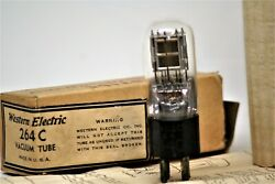 264c Nos Tube Western Electric Valve Engraved Base Hanging Silver Plate Preamp
