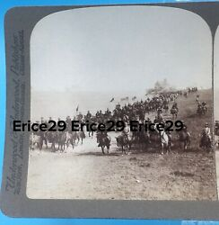 Colonel Teddy Roosevelt Rough Riders Camp Wikoff Montauk Pt. Li 1898 Stereoview