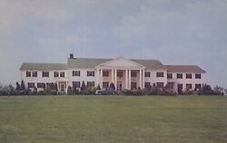 Officers Club Located In For Meade Maryland Us Military Vintage Chrome Post Card