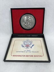 """Americas First Medals George Washington-""""washington Before Boston"""" Pewter Coin"""