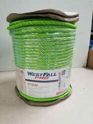 Westfall Pro 1/2 Inch Psk Kernmantle Rope With Two Sewn Eyes Green 600 Feet