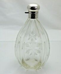 1931 Solid Silver And Cut Glass Wine Whisky Brandy Decanter Flask 1506/9/vnn