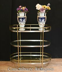 Antique Brass Serving Trolley - Food Table Server