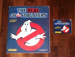 The Real Ghostbusters 1988 Complete Panini Sticker Album And Panini Sticker Packet
