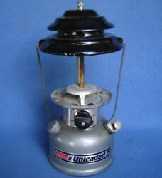 Vintage Coleman 285-700 Unleaded-2 Two Mantle Gas Camping Lanternno Globe