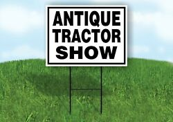 Antique Tractor Show Black Border Yard Sign With Stand Lawn Sign