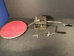 Thores 533 Phonograph Spring Motor With Base Plate Disc Swiss Rare Vintage