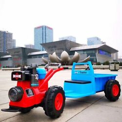 Children's Walk-behind Tractor Electric Toy Car Can Sit On Dual-drive Four-wheel