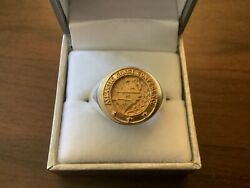 Acc Atlantic Coast Conference 14k Gold On Sterling Silver Signet Ring