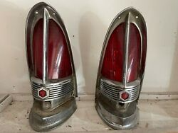 1955-56 Packard Cathedral Tail Lights Set Of 2 With Back Up Lenses Included