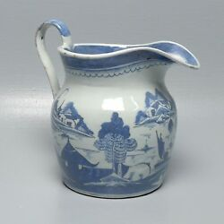 Old Canton Chinese Export Water Porcelain Pitcher W Shein Collection Label Pc
