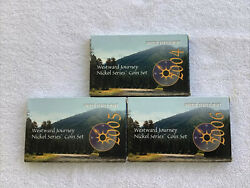 2004 05 06 Westward Journey Nickel Series Sets - Jefferson Coins- Boxes And Coas