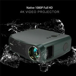 8500lms Native 1080p Android 6.0 Projector 4k Video Led Blue-tooth Home Party Us