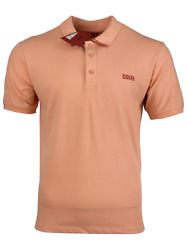 Hugo Boss Menand039s Polo Shirt With Embroidered Reversed Logo - Salmon Pink W/red