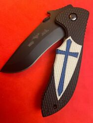 """Emerson knife Commander rare limited edition """"FrogLube"""" custom cusader scale"""